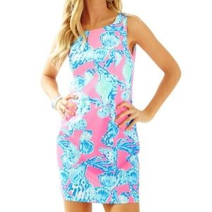 Lilly Pulitzer Pink Dress with Blue Shells, NWT